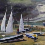 Yachts Coming in from the Storm – Coastal Landscape – Frinton-on-Sea Artist Sue Branch