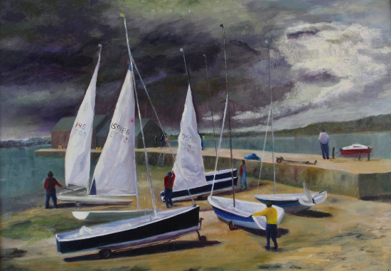 Yachts Coming in from the Storm - Coastal Landscape - Sussex Artists Gallery - Sue Branch - Frinton-on-Sea