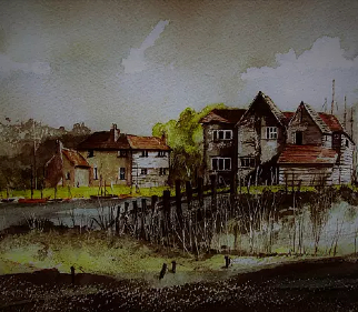 Bosham Harbour near Chichester West Sussex - Landscape Artist Chris Hill