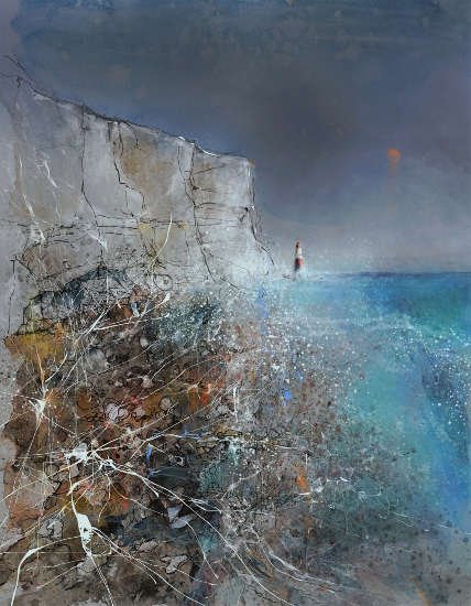 Chalk White Cliffs Beachy Head - Downs and Sea - Eastbourne Sussex Gallery - Artist Chris Hill