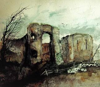 Pevensey Castle - English Heritage - Eastbourne Landscape Artist Chris Hill