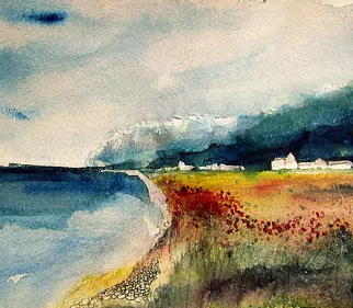 White Cliffs Sussex Coastal Scenery - Eastbourne Artist Chris Hill