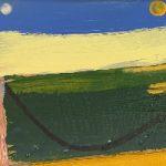 Equinox Moon and Sun Landscape Painting – Modern Art – Crawley West Sussex Artist Tom Glynn