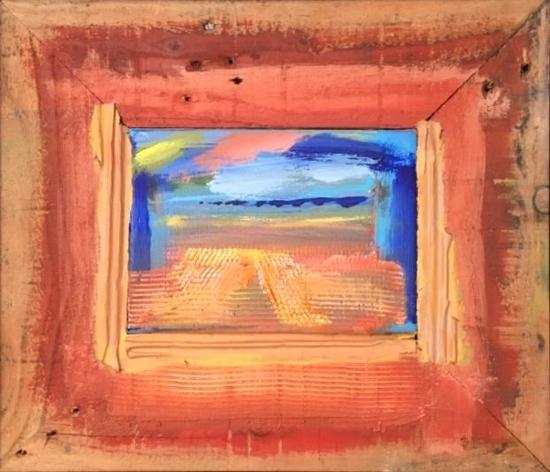 Harvest Fields Framed Abstract Art - Contemporary Sussex Artist Tom Glynn