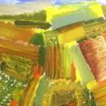 Haystack and Fields Mixed Media Art by Crawley West Sussex Contemporary Artist Tom Glynn