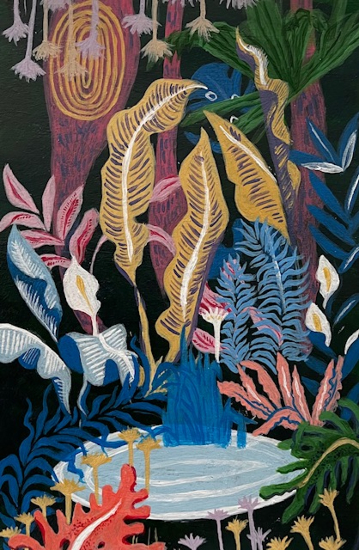 Jungle - Flowers and Leaves - Art by Sussex Artist Jennifer Okafor