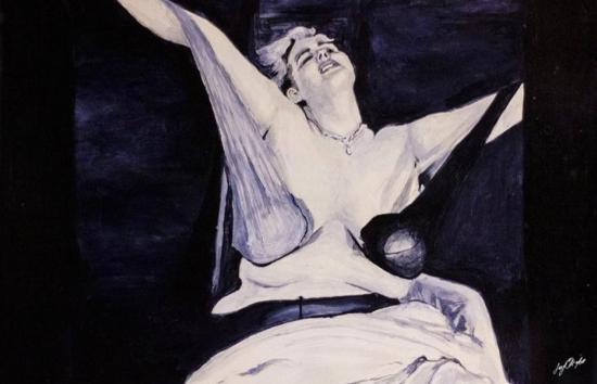 Peephole - Acrylic Painting - Sussex Artist Jennifer Okafor