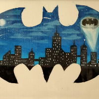 Gotham City – Batman Painting – Hailsham, East Sussex Artist Andy Tardif
