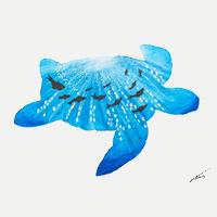 Underwater Blue Turtle – Original Oil Painting in various sizes – Hailsham, East Sussex Artist Andy Tardif