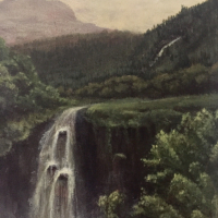 Scotish Highlands Landscape Painting – Arrochar – Horsham West Sussex Artist Lizzy Montague
