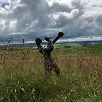 Boxer Bronze Sculpture in Wales