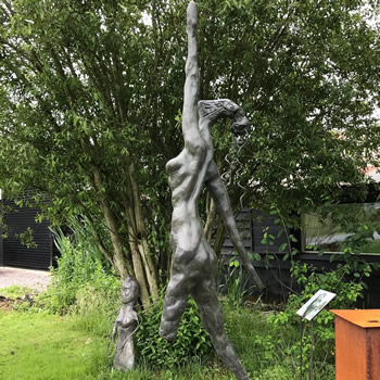 Bronze Sculpture - The Tall Lady - Contemporary Sussex Sculptor Steve Bicknell