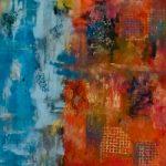 Contemporary Abstract Art – New Horizons – Bedlington Northumberland Artist Amanda Mavin