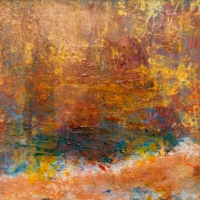Essence of Spring – Abstract Painting – Cold wax and oil mixed-media – Contemporary Artist Amanda Mavin