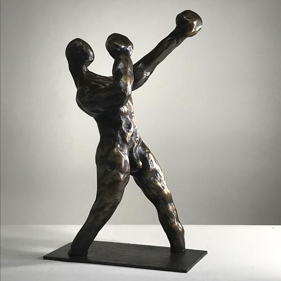 Contemporary Sculpture The Boxer - Thakeham West Sussex Sculptor Steve Bicknell