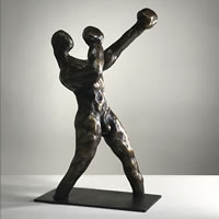 Contemporary Sculpture The Boxer – Thakeham West Sussex Sculptor Steve Bicknell