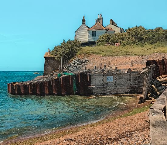 Cuckmere Cottages East Sussex - Digital Artist Sam Taylor