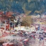 Harbour – Abstract – Cold Wax and Oil Original Painting and Prints Available – Artist Amanda Mavin