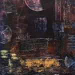Moonscape – Abstract Painting in Cold Wax and Oil – Bedlington Artist Amanda Mavin