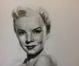 Portrait of Marilyn Monroe - West Sussex and Plymouth-based Artist Lizzy Montague