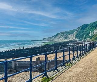 Promenade and White Chalk Cliffs - Seaford Digital Artist Sam Taylor