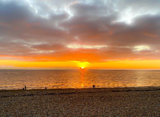 Seaford Beach East Sussex - Sunset - Digital Artist Sam Taylor