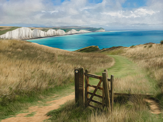Seven Sisters Gate and Cliff Walk - Seaford East Sussex Digital Artist Sam Taylor
