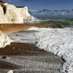 Splash Point Waves Art Print – Shingle Beach and Cliffs – Seaford East Sussex
